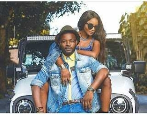Falz and Simi in Another Couple Photo Rocking Matching Denims